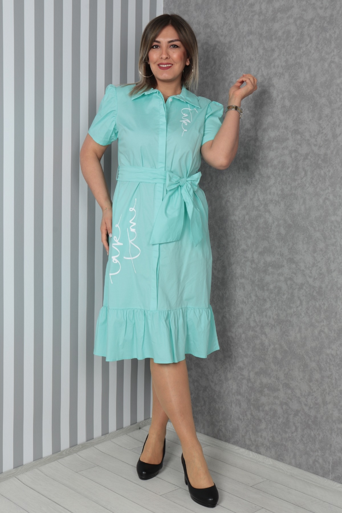 Dresses-Light green
