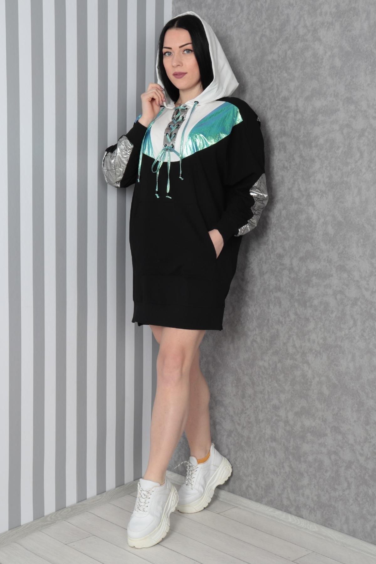 Casual Short Dresses-Black