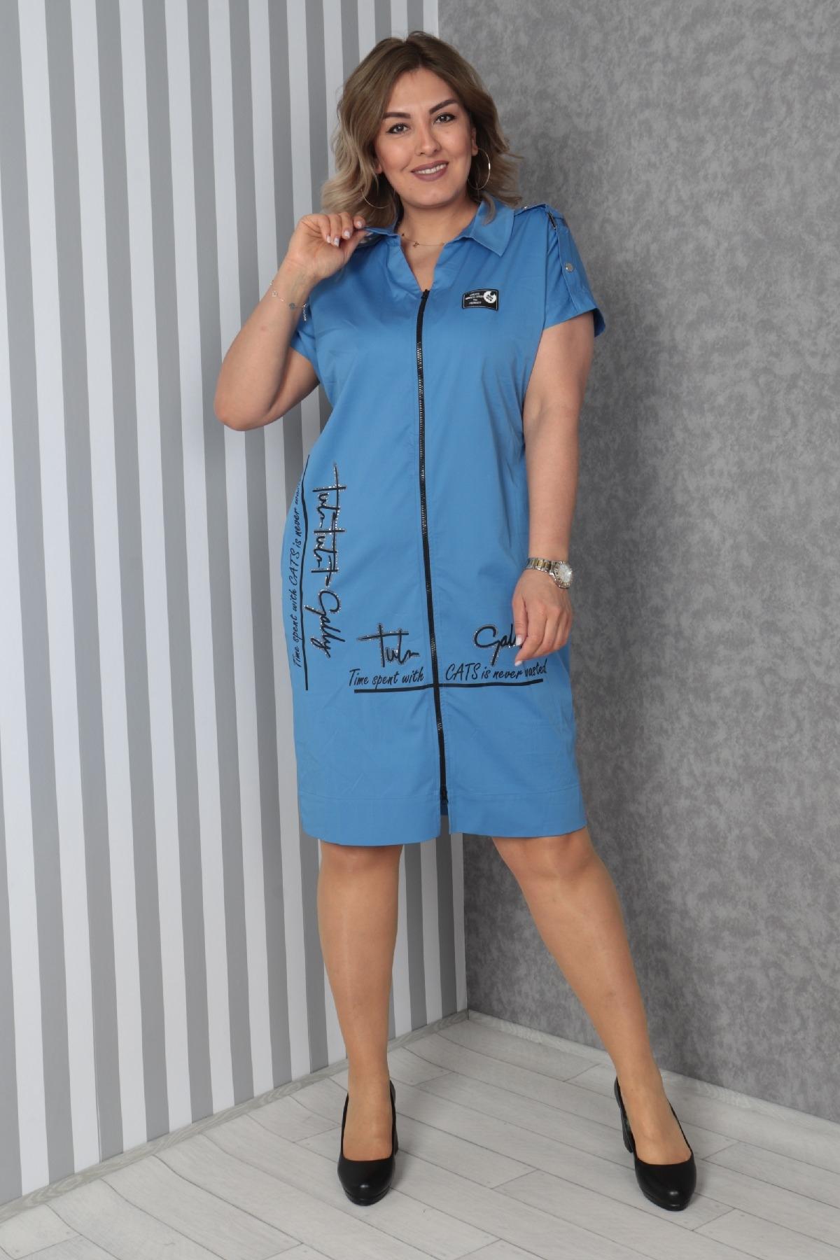 Casual Dresses-Blue