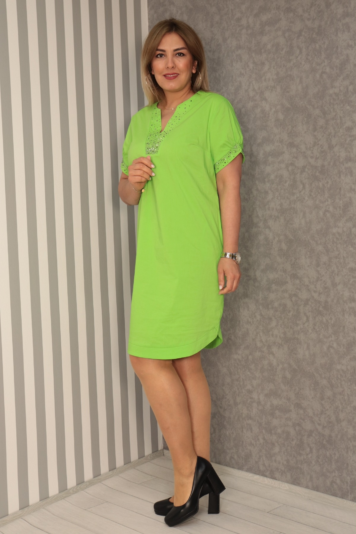Casual Dresses-Neon Green