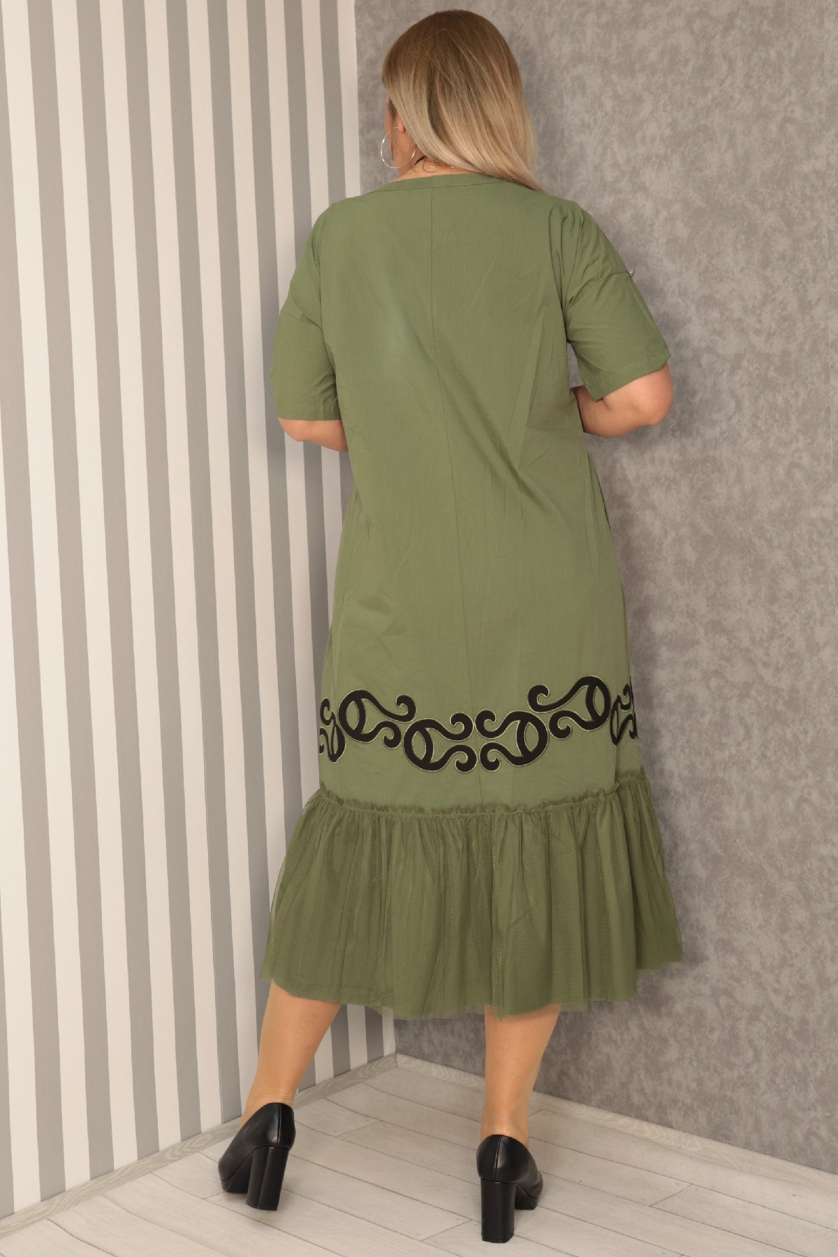 Casual Long Dresses-Khaki