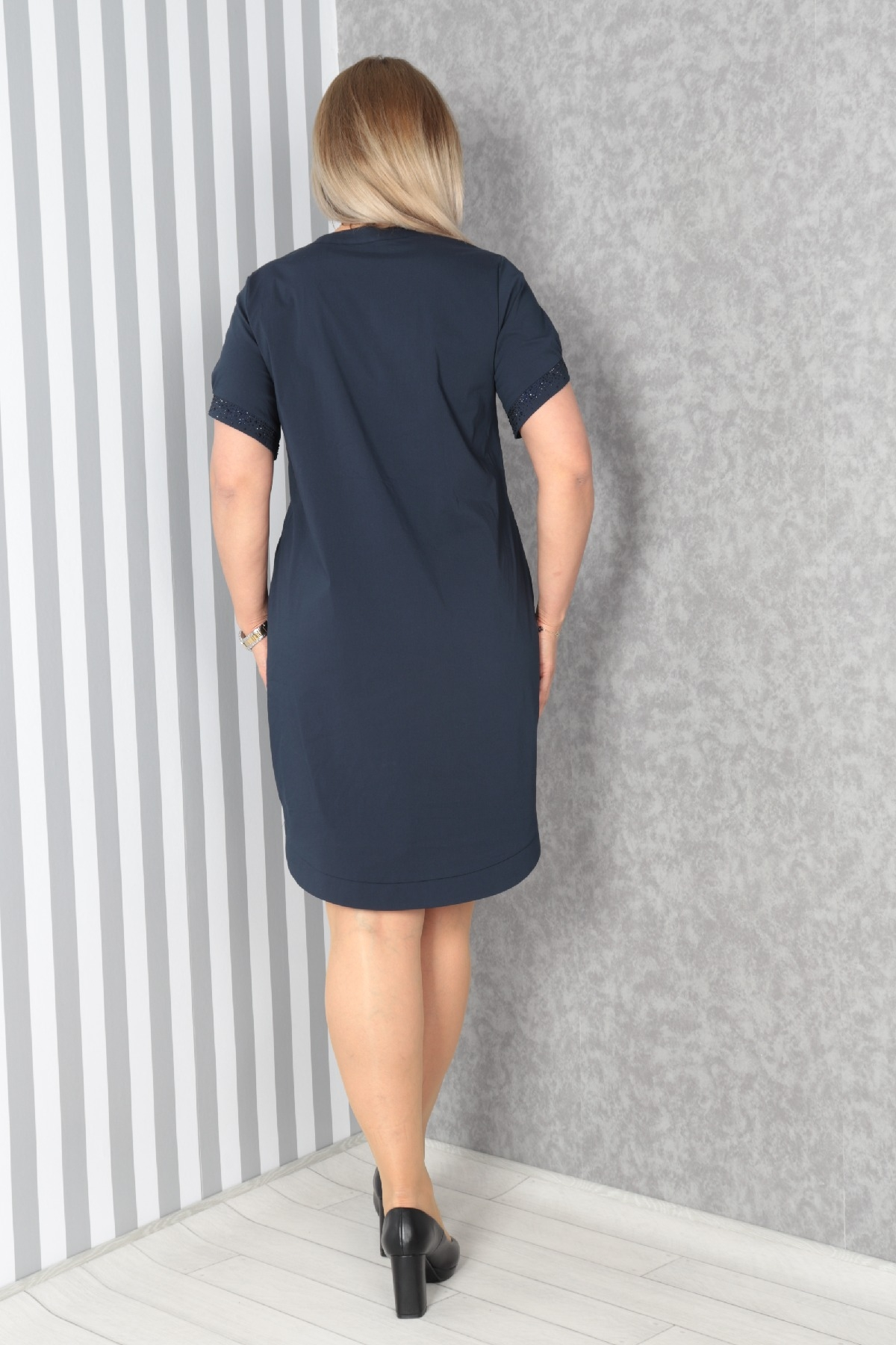 Casual Dresses-Dark Blue