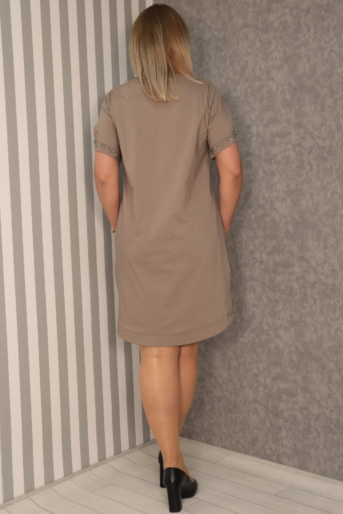 Casual Dresses-Mink