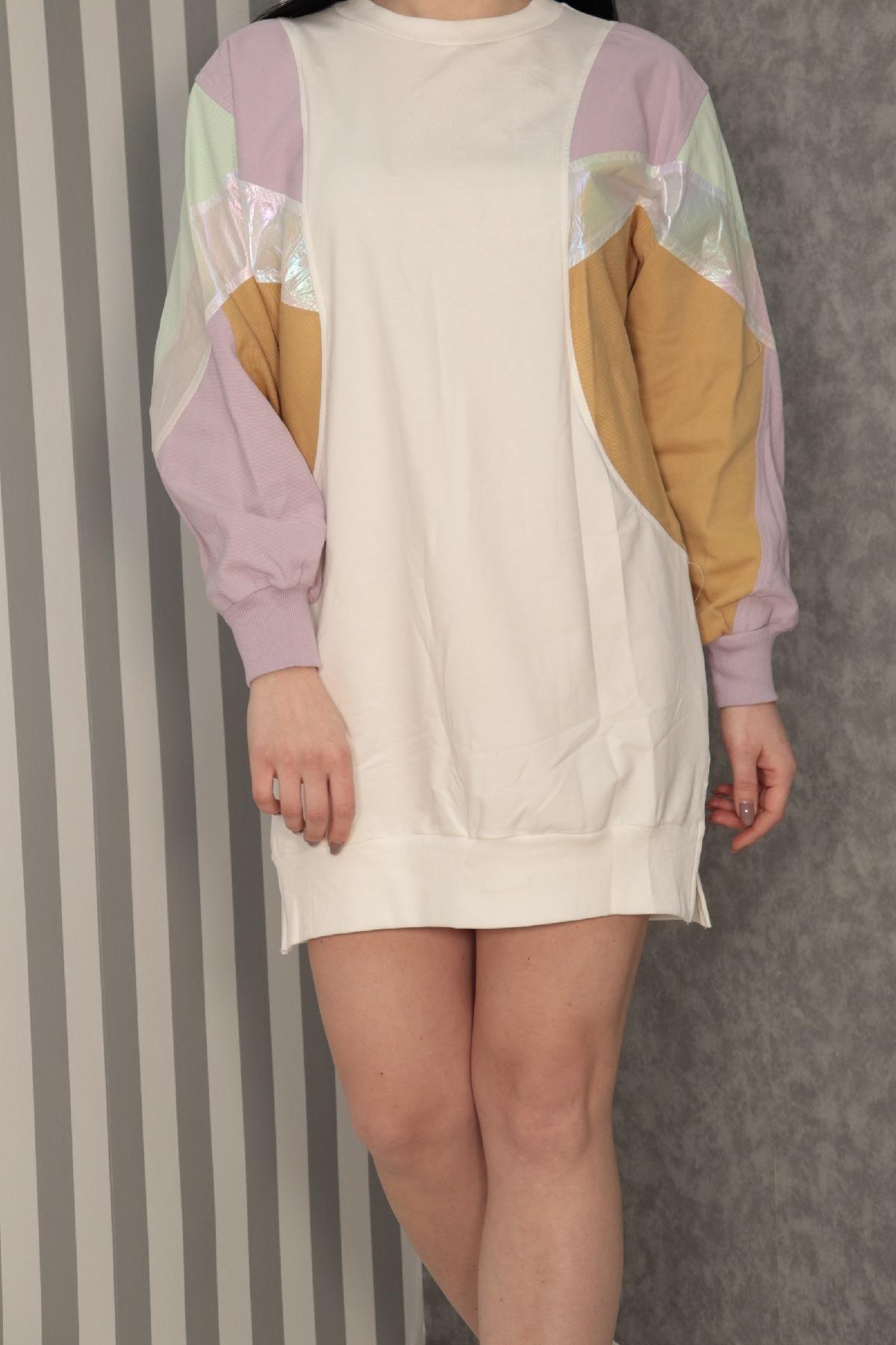 Casual Short Dresses-Ecru