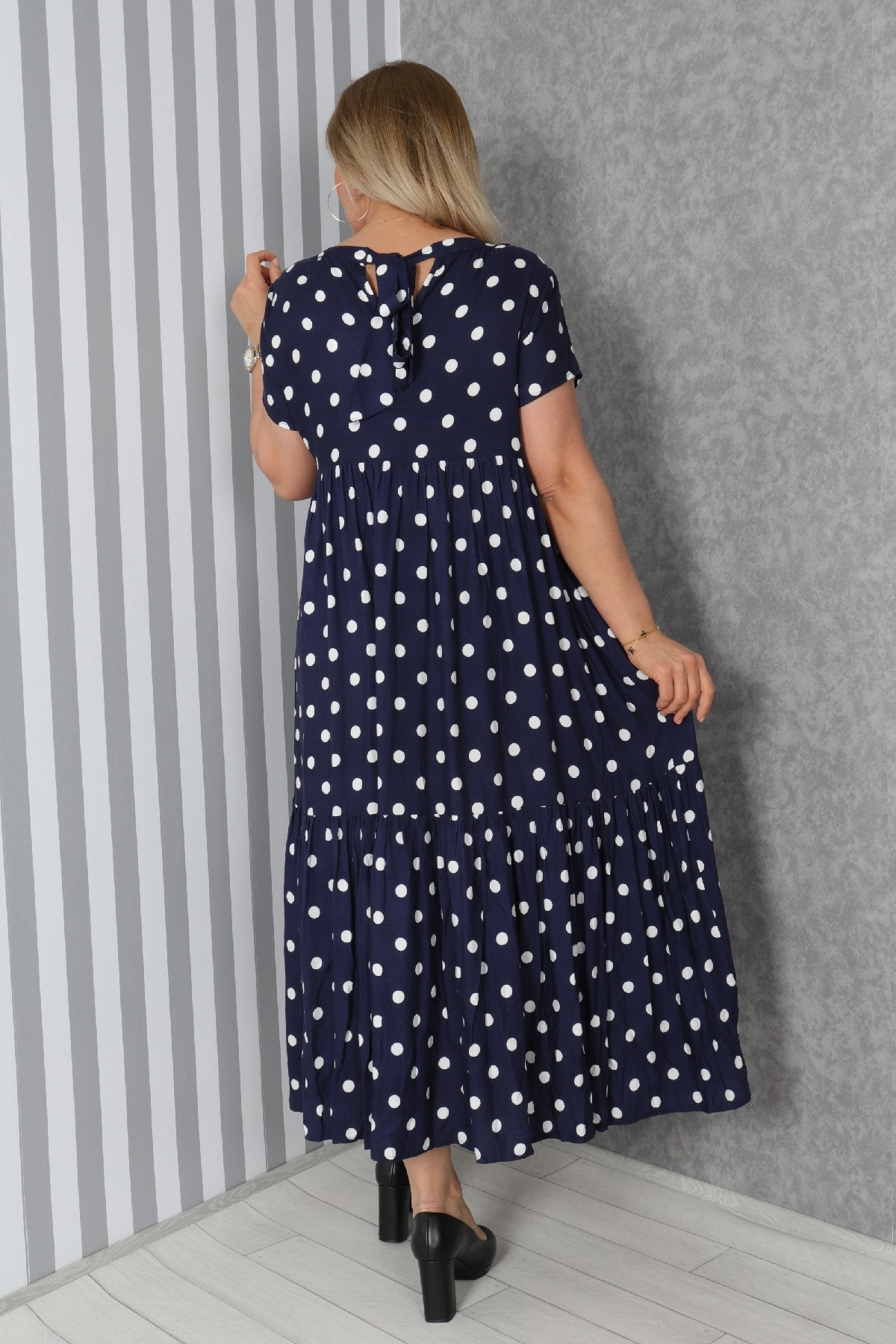 Casual Long Dresses-Dark Blue