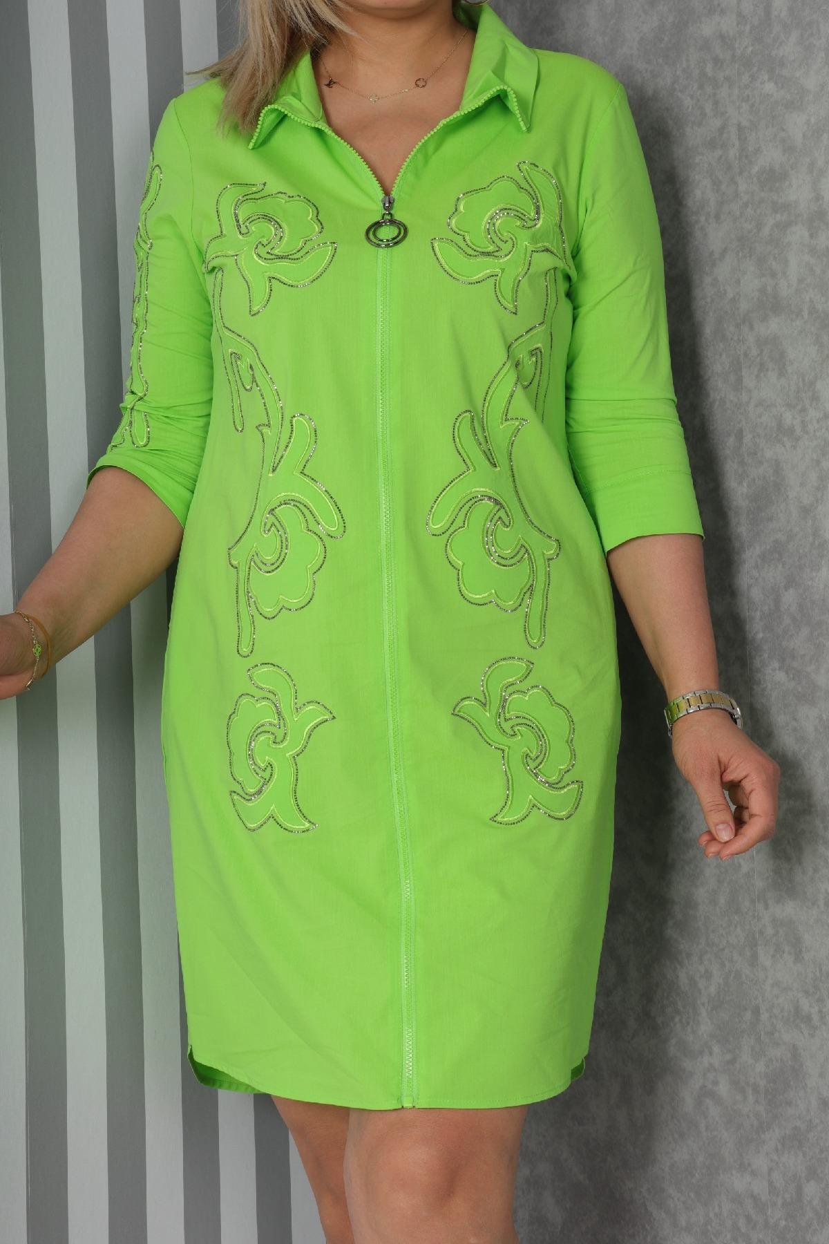 Casual Short Dresses-Green