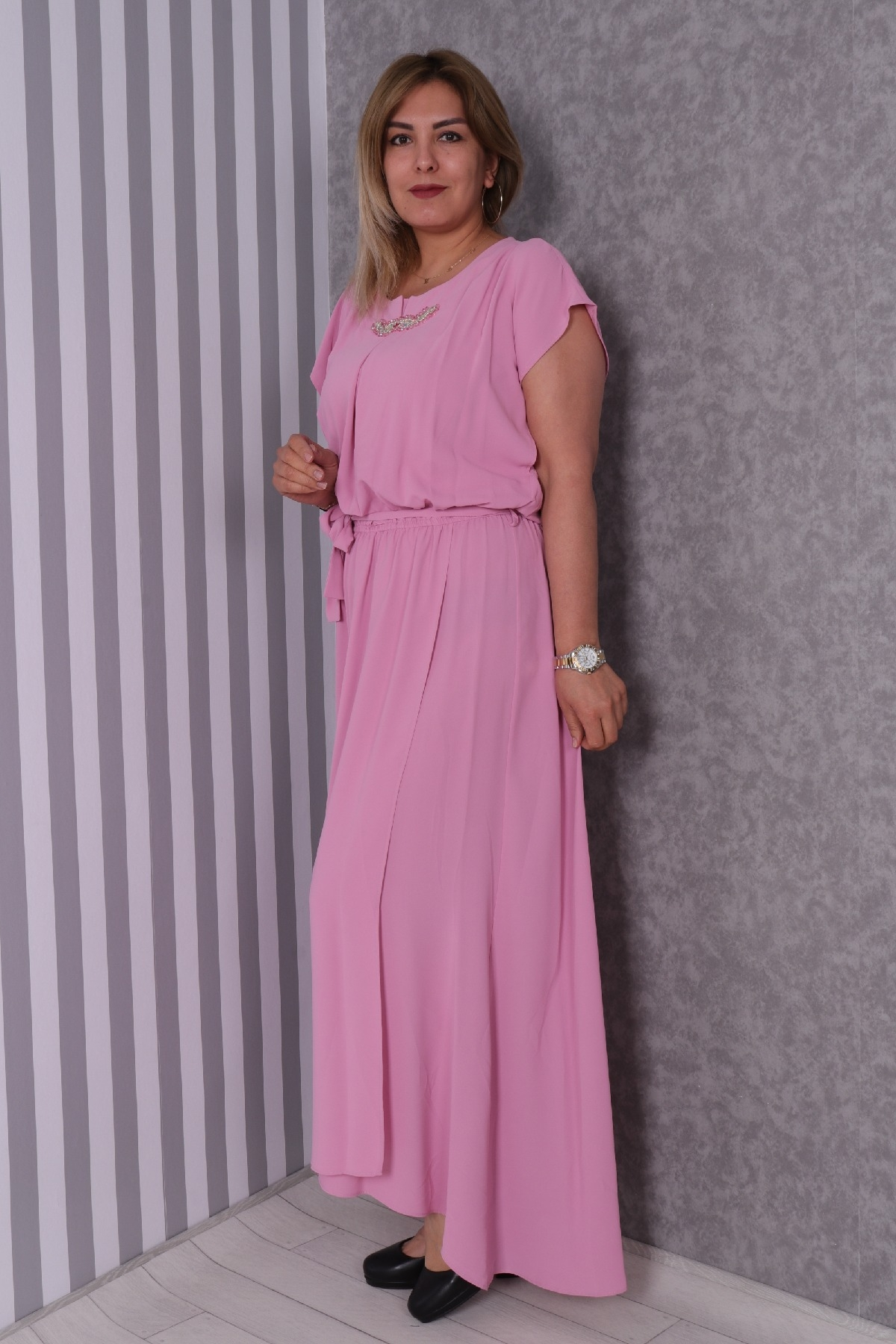 Casual Long Dresses-Pink