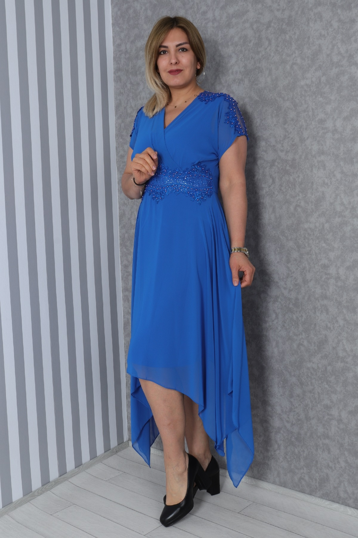 Casual Long Dresses-Bright Blue