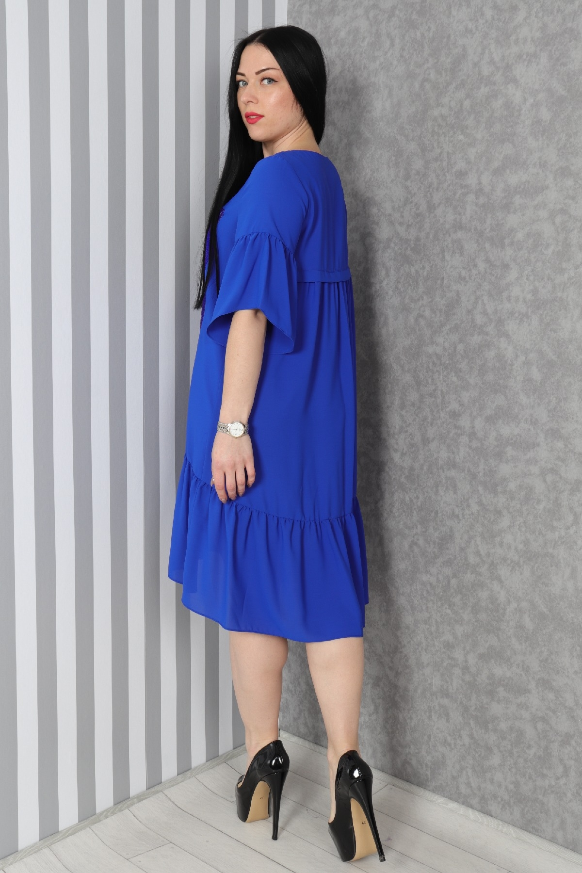 Casual Dresses-Bright Blue