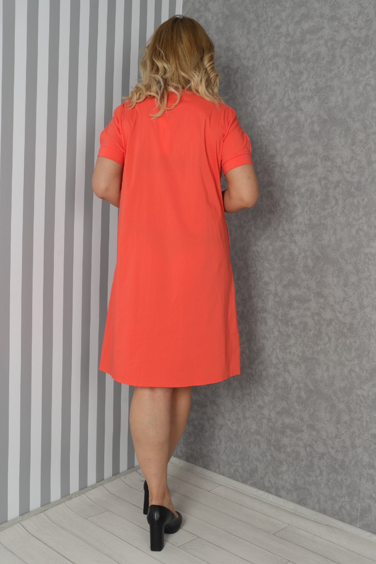 Casual Dresses-Coral