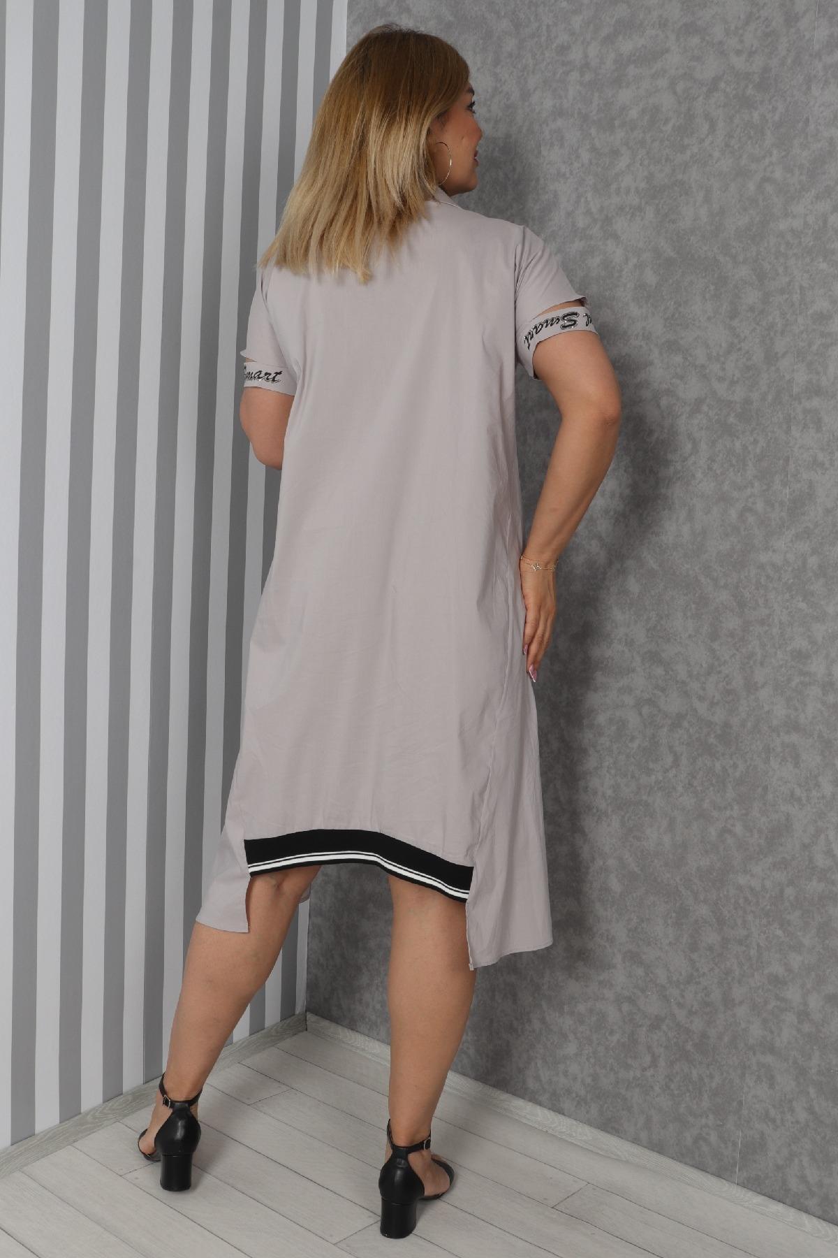 Casual Dresses-Beige