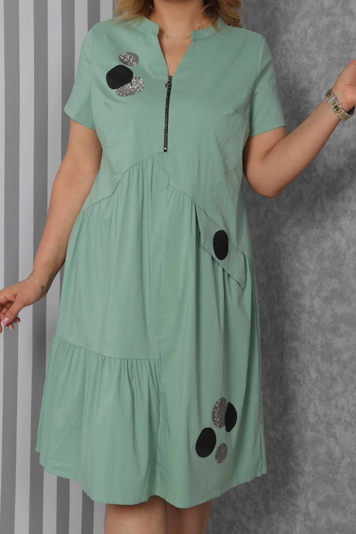 Casual Dresses-Petrol Green
