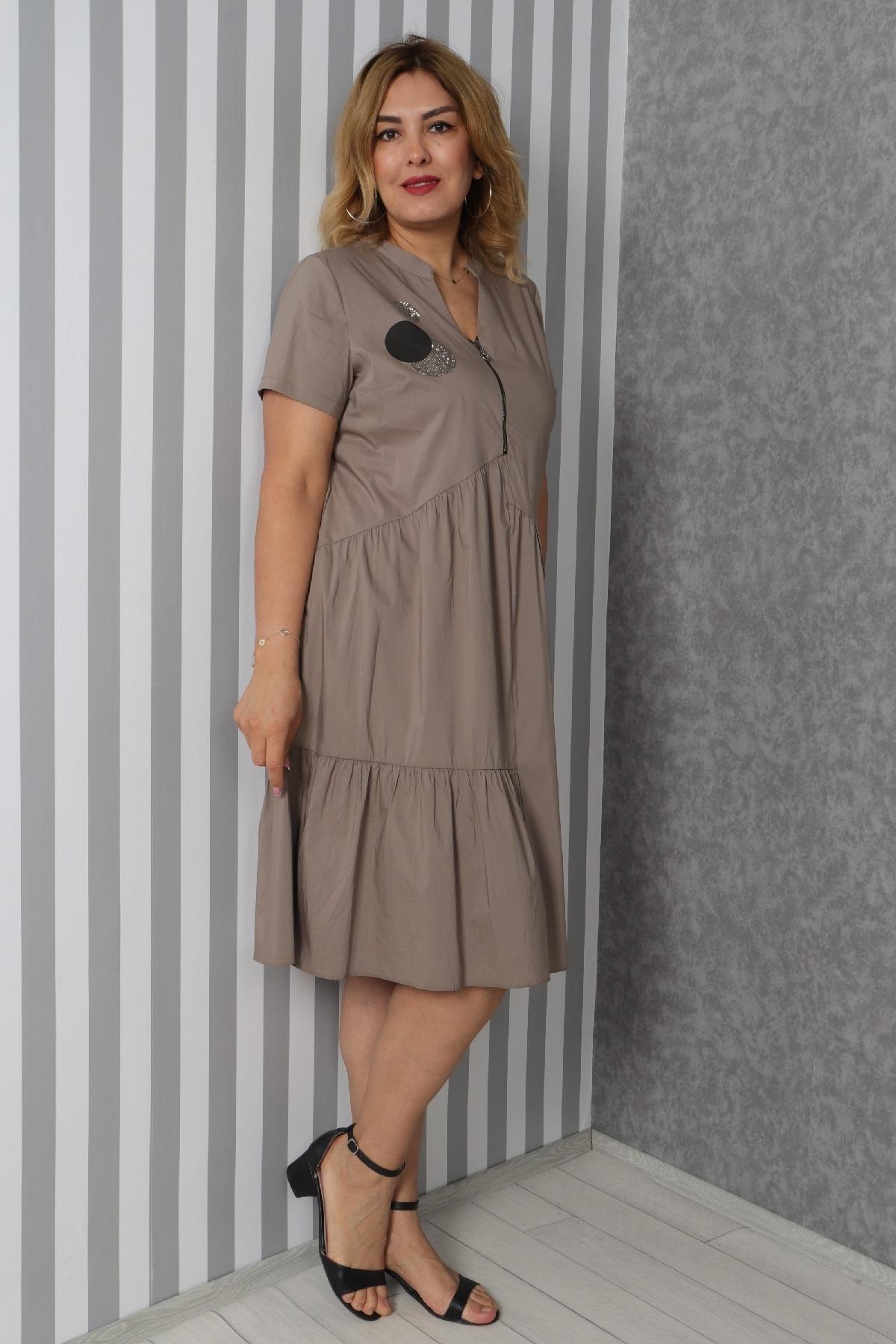 Casual Dresses-Mink